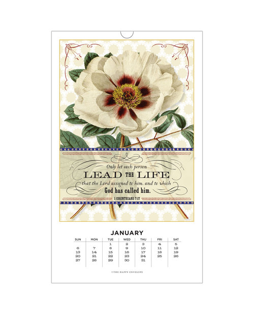 2019 Floral Scripture Calendar The Happy Envelope