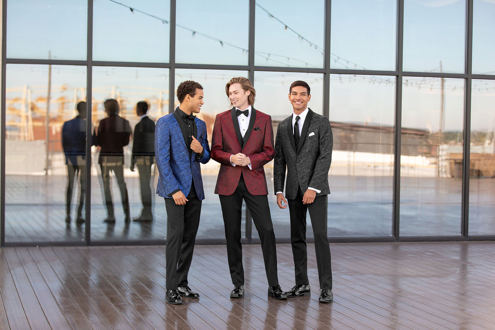 Prom & Homecoming - Whether you need a vest and tie for the Homecoming dance or a full tuxedo for the Prom, Tuxedos by American Male offers modern and trendy options to ensure you look the best for your date!