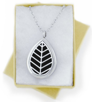 Diffuser Necklace, Leaf