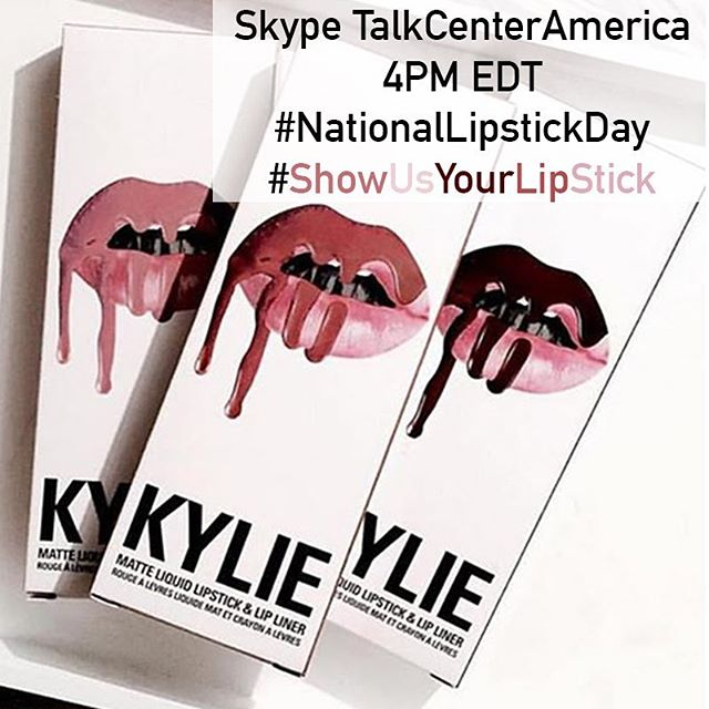#nationallipstickday Skype us at 4PM eastern to show off your lips #watchuwearin? #fire #lips #lipstick #gloss