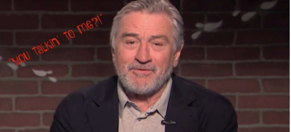 "If you ever to think about writing a mean tweet about Robert DeNiro, think twice!! Mr. DeNiro was on Jimmy Kimmel's special edition ""Oscar Mean Tweets,"" and one of the tweets was ""There are two things visible from space: The Great Wall of China and Robert DeNiro's mole,"" Ouchhh!!  He had a few choice words to say back to the haters too! What do you think about his reaction to the mean tweets OMGOSSIPERS?!?"