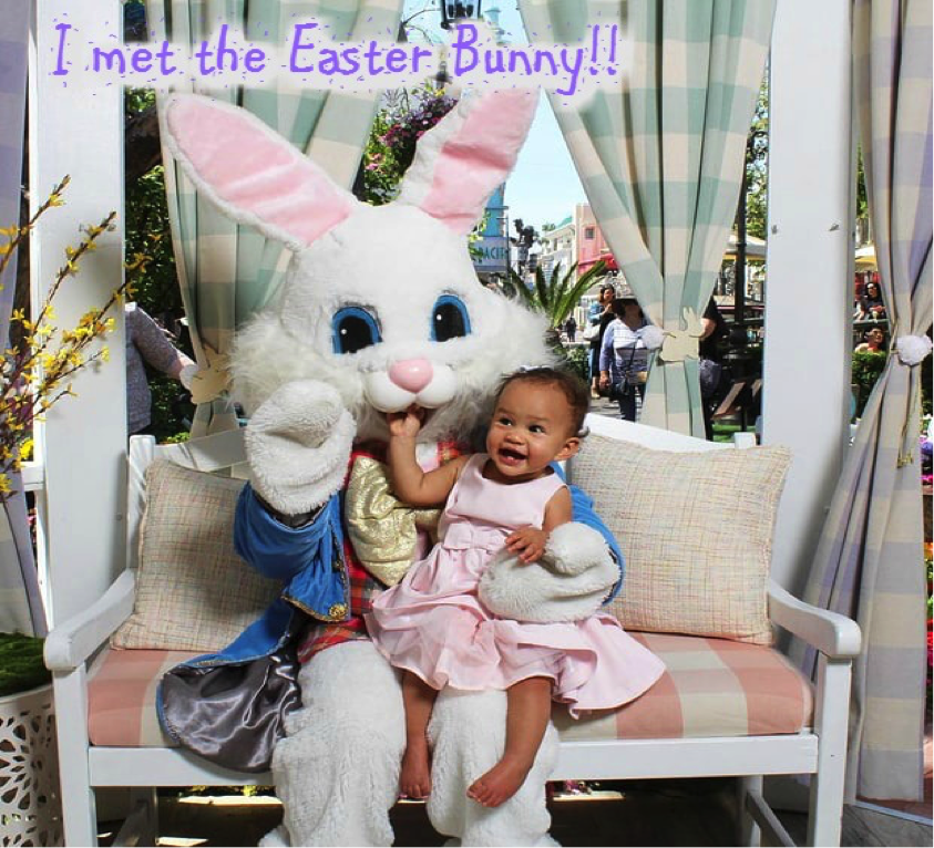 Can John Legend's and Chrissy Teigen's daughter get anymore cuter?! Apparently so after they took eleven month old Luna to get her picture taken with the Easter Bunny at The Grove in L.A. on Wednesday. Luna wore a pink dress and a hairclip for her special introduction to the Easter Bunny! Luna was on her best behavior and didn't even cry! OMGOSSIPERS how adorable is baby Luna?!