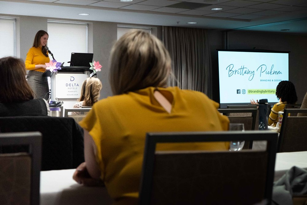 Brittany & Mischka at BlogJam 2018.  Photo credit:  Emily Rankin, of Take Note Graphic Design .