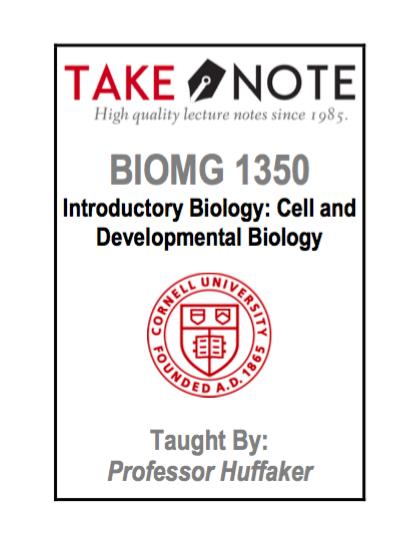 BIOMG 1350 - Huffaker