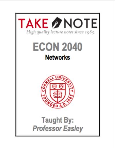 ECON 2040 - Easley