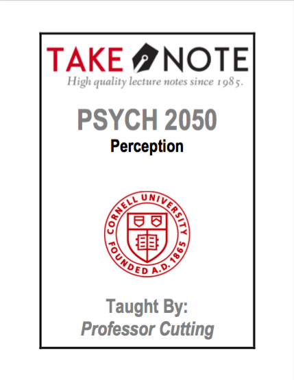 PSYCH 2050 - Cutting