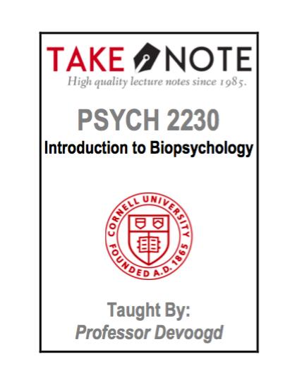 PSYCH 2230 - Devoogd