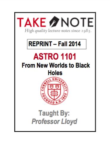 ASTRO 1101 - $40