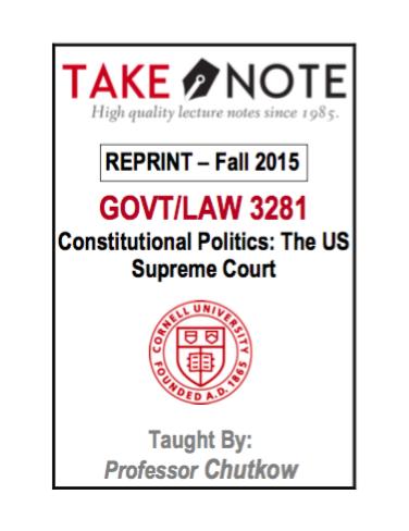 GOVT/LAW 3281 - $40