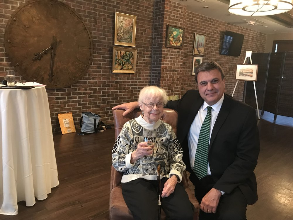 Nancie Petrie, Accomplished Artist and S.H.A.R.E. House  Resident with Albert Pucciarelli