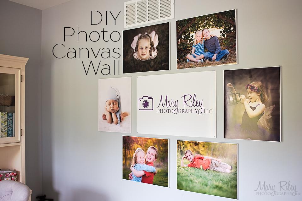 DIY photo canvas wall photography display