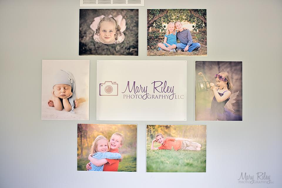 DIY photo canvas photography display