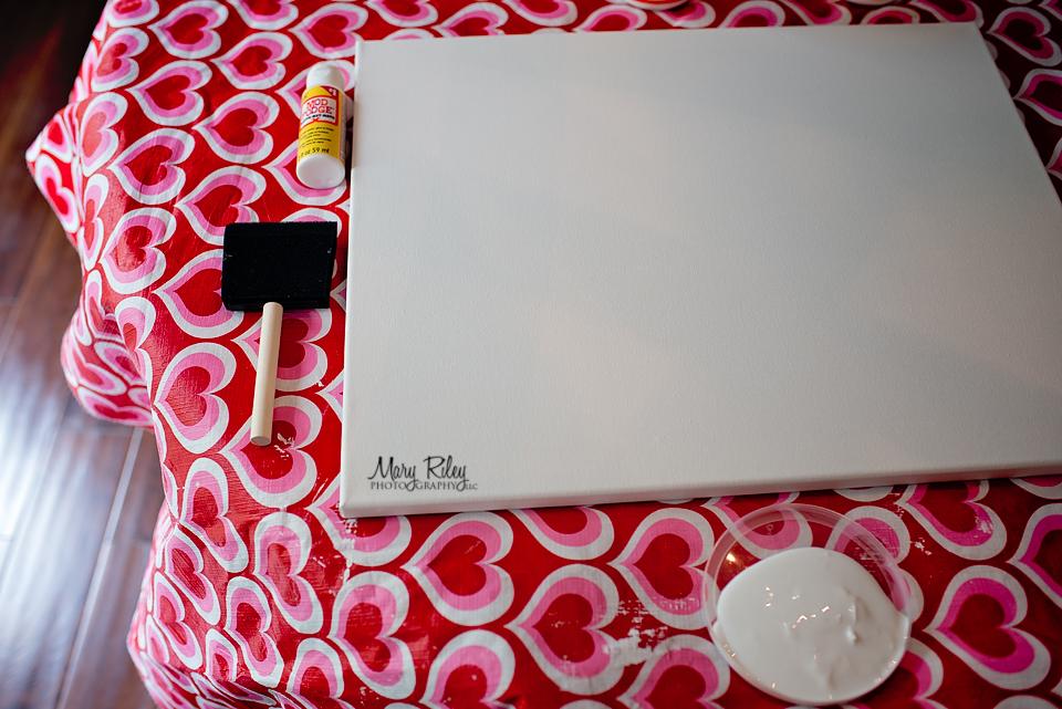 DIY photo canvas photograph display
