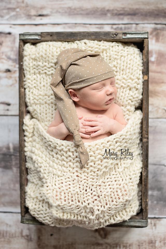 Newborn Photography Sleep Hat Wentzville Missouri Mary Riley