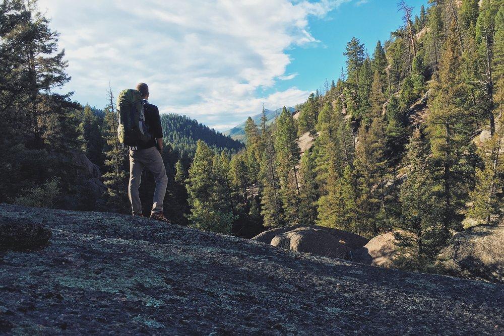 Zach Minard in Lost Creek. Photo by Zach Minard.