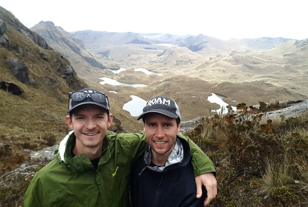 Eric (Left) and Mark in Cajas National Park. Photo: Mark Husted and Eric Eisinger