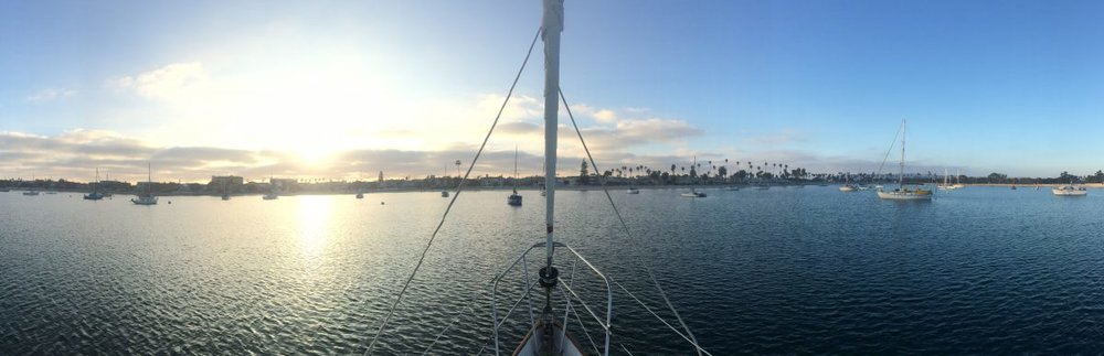 Harbor Views off the bow of Serafina, photo by Eliza Drummond.