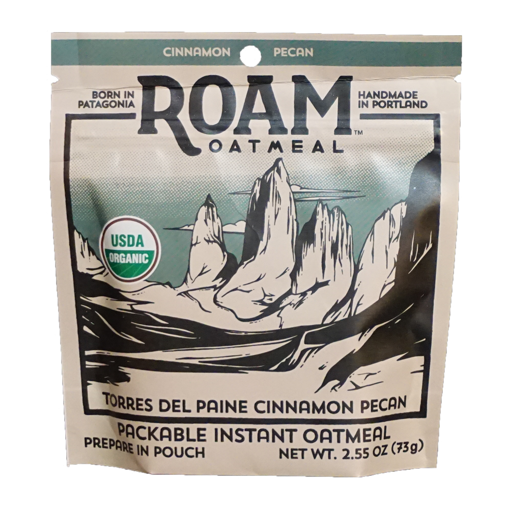 TORRES DEL PAINE CINNAMON PECAN   Comfort breakfast for the backcountry. Cinnamon and pecan combine for a sticky bun inspired flavor.