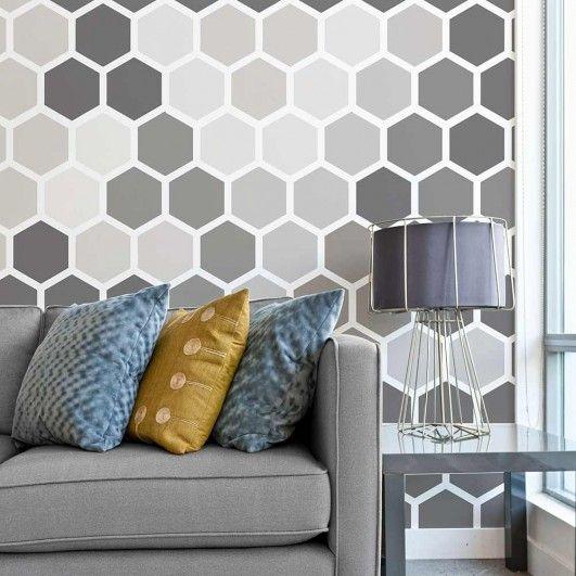 Honey Comb Wall Stencil - Beehive Shoppe.jpg