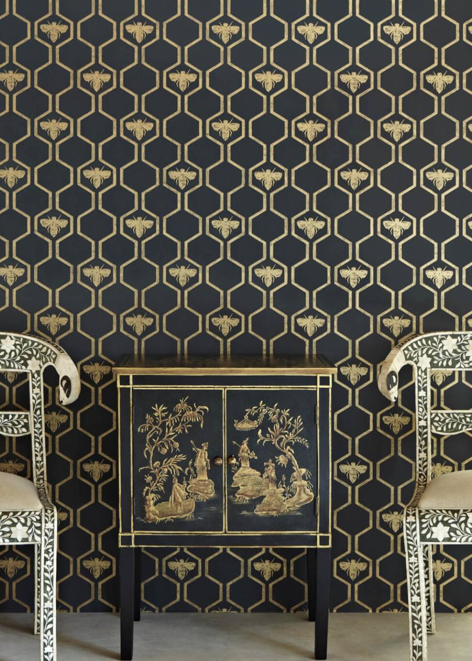 French Bee wall Paper Beehive Shoppe.png