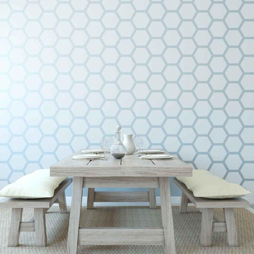 Honey Comb Wall Paper Beehive Shoppe.jpg