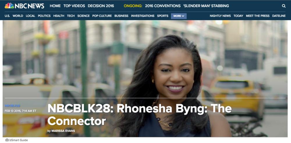 nbcBlk28 rhonesha byng her agenda