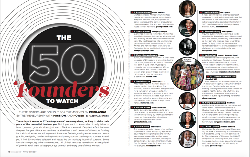 ESSENCE MAGAZINE 50 FOUNDERS TO WATCH - RHONESHA BYNG