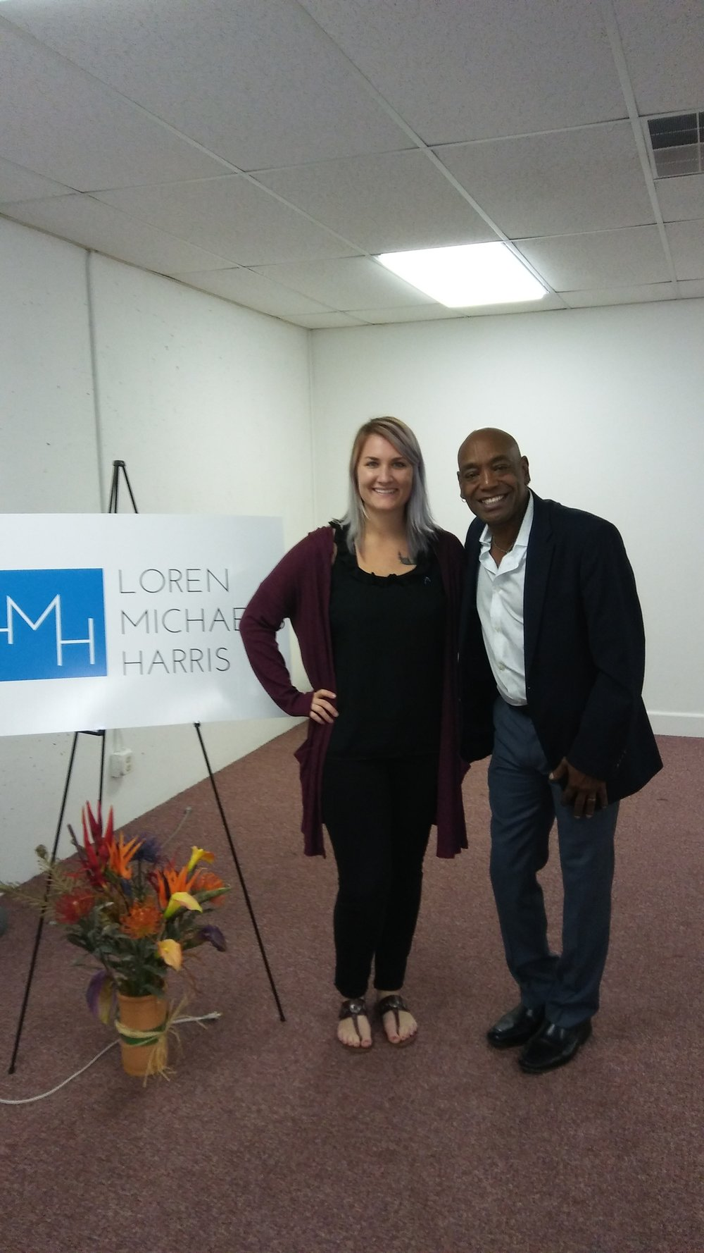 Loren Michaels Harris with Amelia Thomas of AIDS ASSIST OF NORTHERN INDIANA