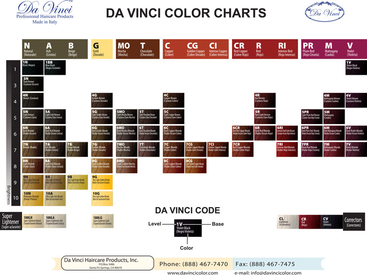 Dvda Vinci Hair Color34oz Da Vinci Haircare
