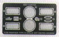 Tamiya   1:35   GERMAN PANTHER ETCHED GRILLE TAM35172