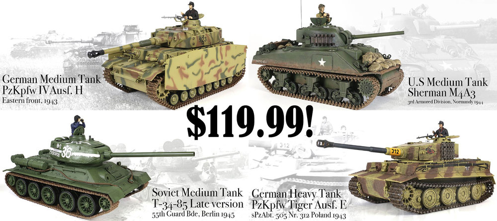 1/24th Scale Tanks