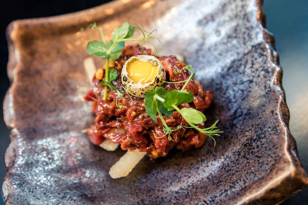 Beef Tartar (photo by Woo Photography)