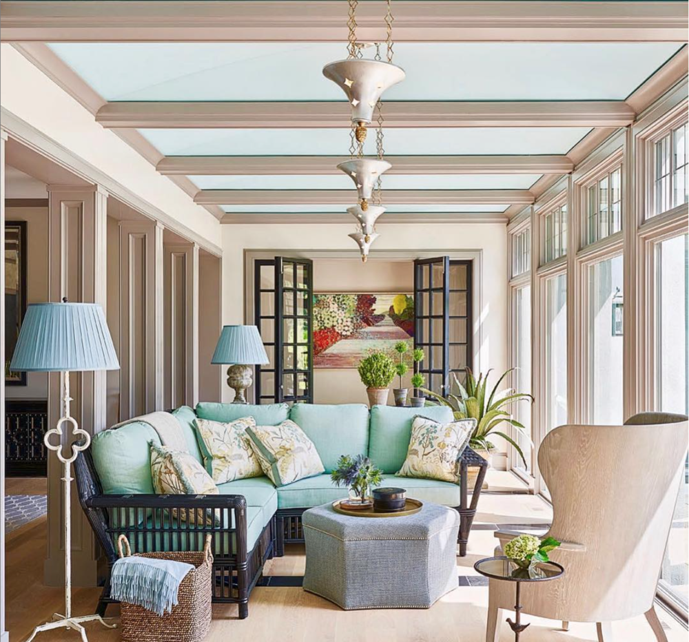 Private Residence, designed by JamesThomas Designs. Art by Dorothy Alig.
