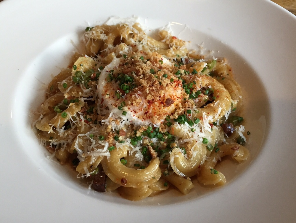 Creste Carbonara - with duck egg and duck bacon