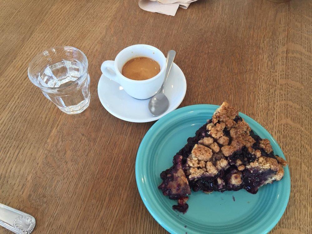 Tandem Blueberry Pie- Yum!
