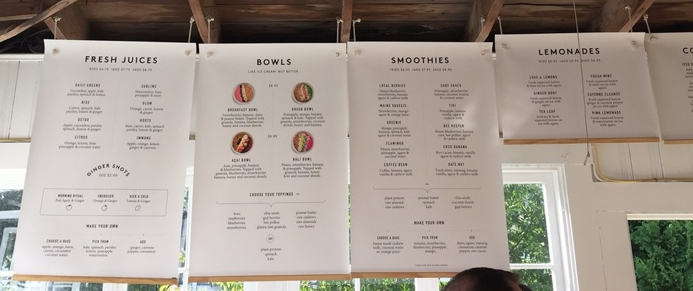 Loveshack Menu
