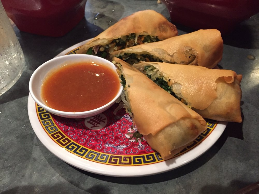 Spring Rolls with Apricot Duck Sauce