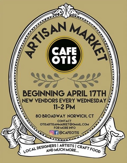 Cafe Otis , an eclectic farm to table cafe just opened in historic Norwich CT. They will be hosting an artisan craft market every Wednesday this spring. Tocco will be there Wednesday May 8. That's right before Mother's Day…you're welcome!