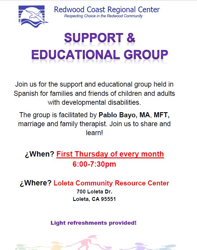 Loleta Support Group - Every first Thursday of the month from 6-7:30pmClick here for flyers in Spanish and English