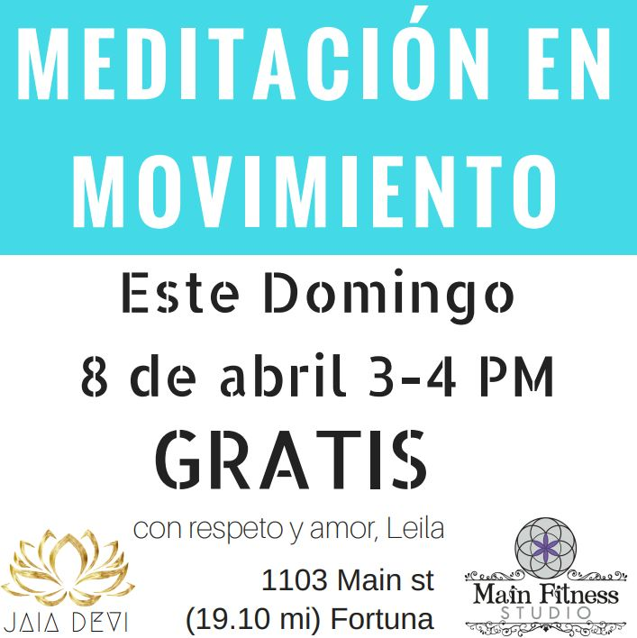 Free meditation class in Spanish