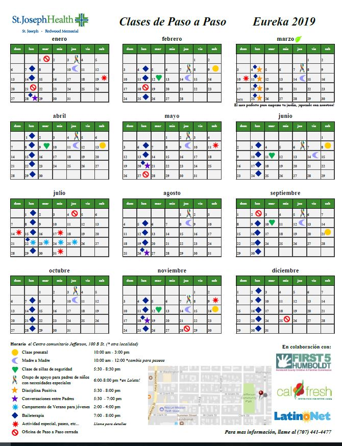 Link to Paso a Paso Calendar here