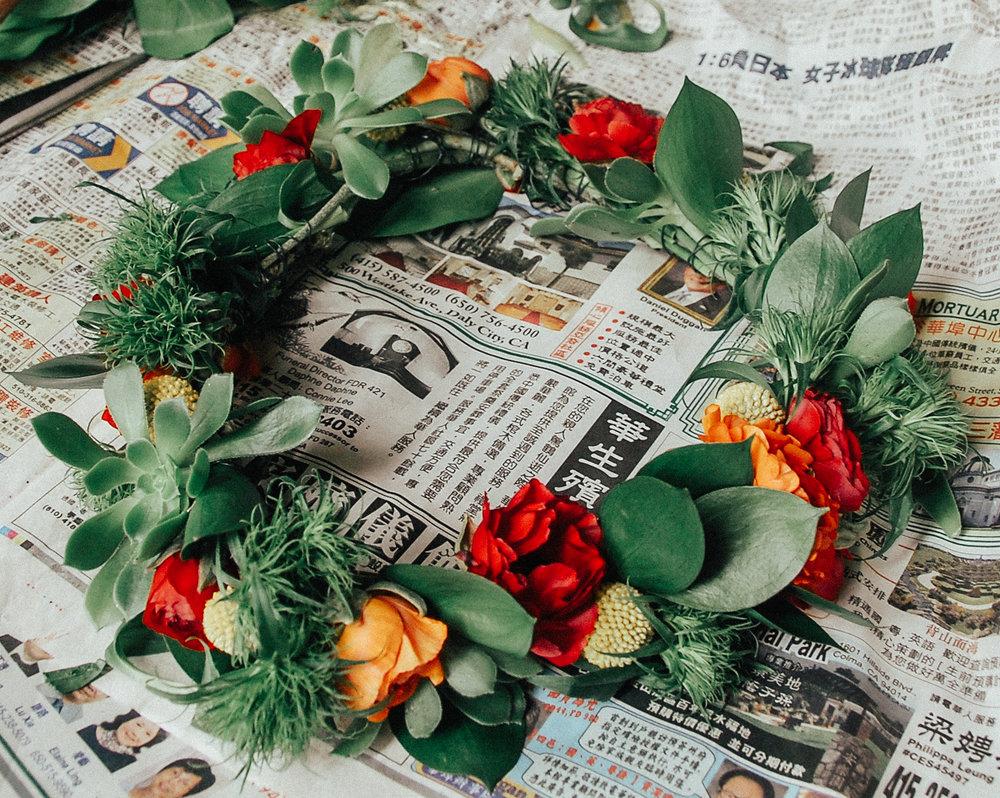 via thea sf flower mart diy flower crown