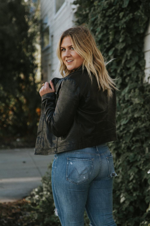 VIA THEA Leather Jacket