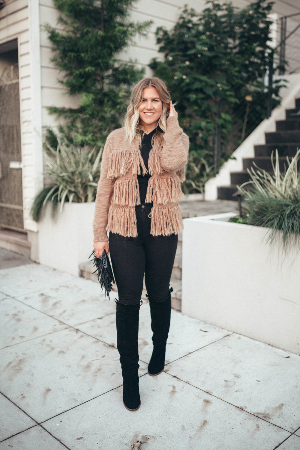 via Thea fringe sweater