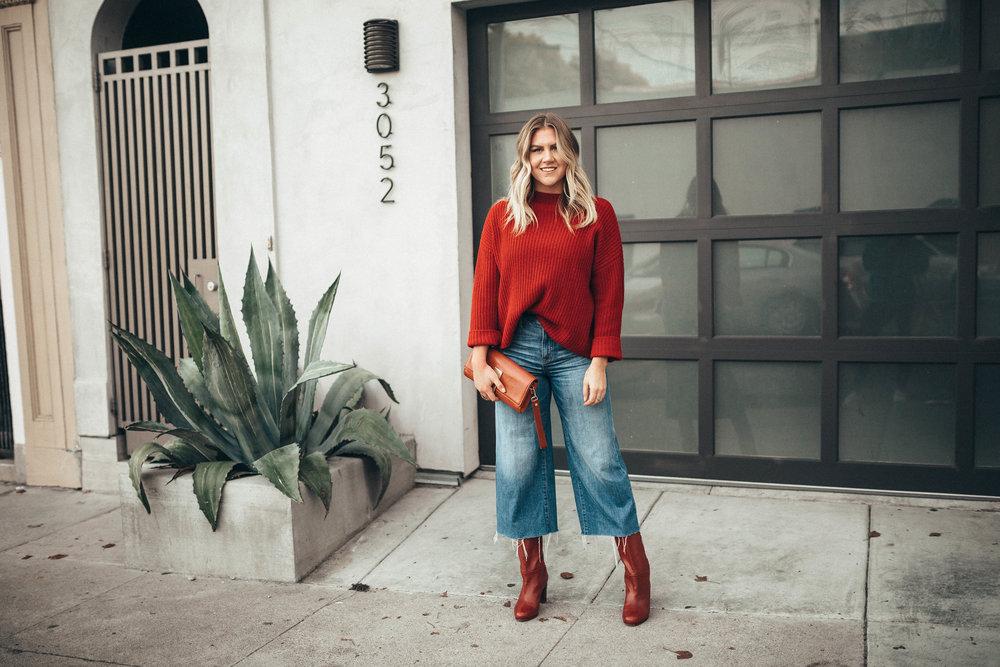 via Thea Winter Uniform: Culottes, boots & knits