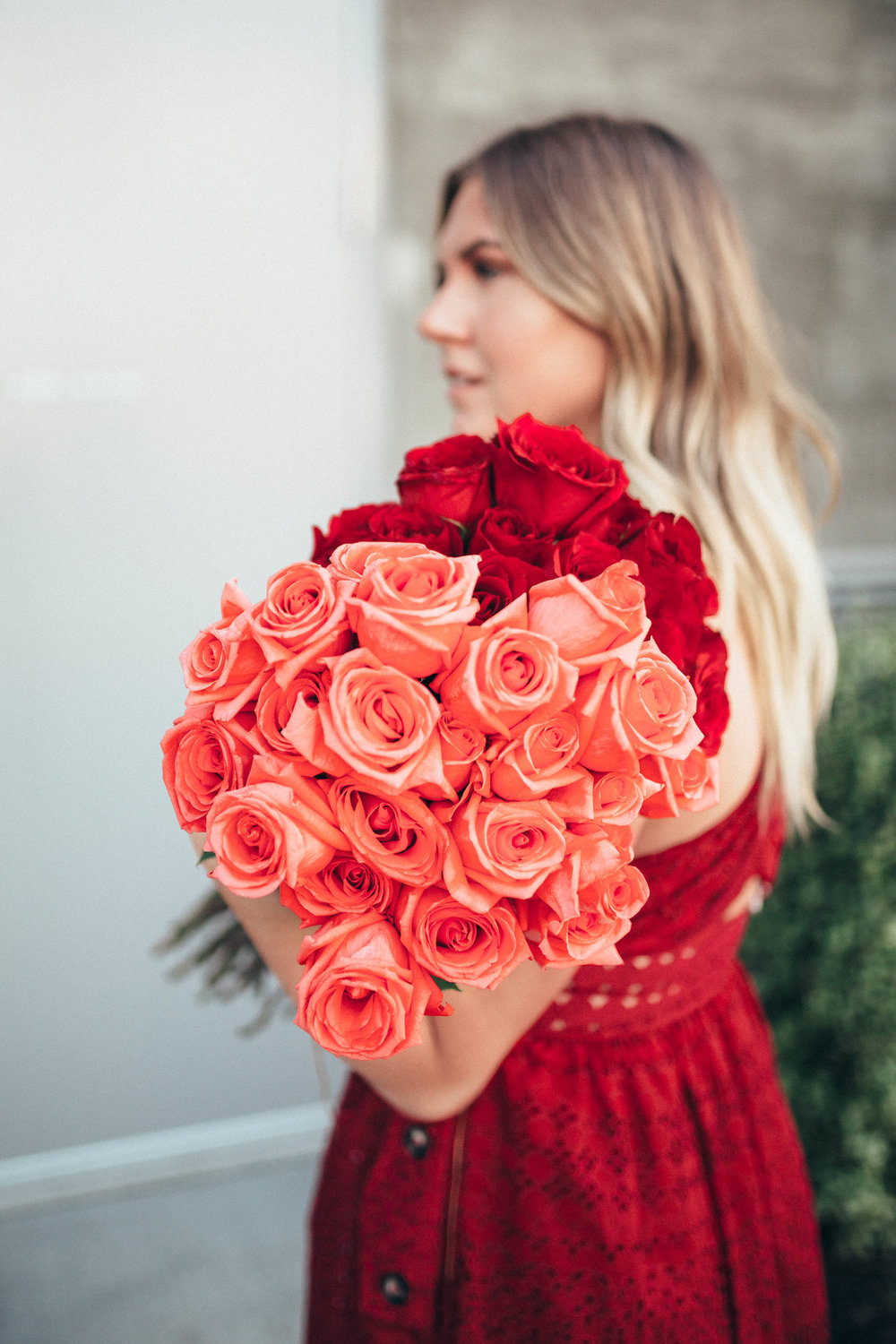Valentine's Day: via Thea Self Portrait Dress & Roses