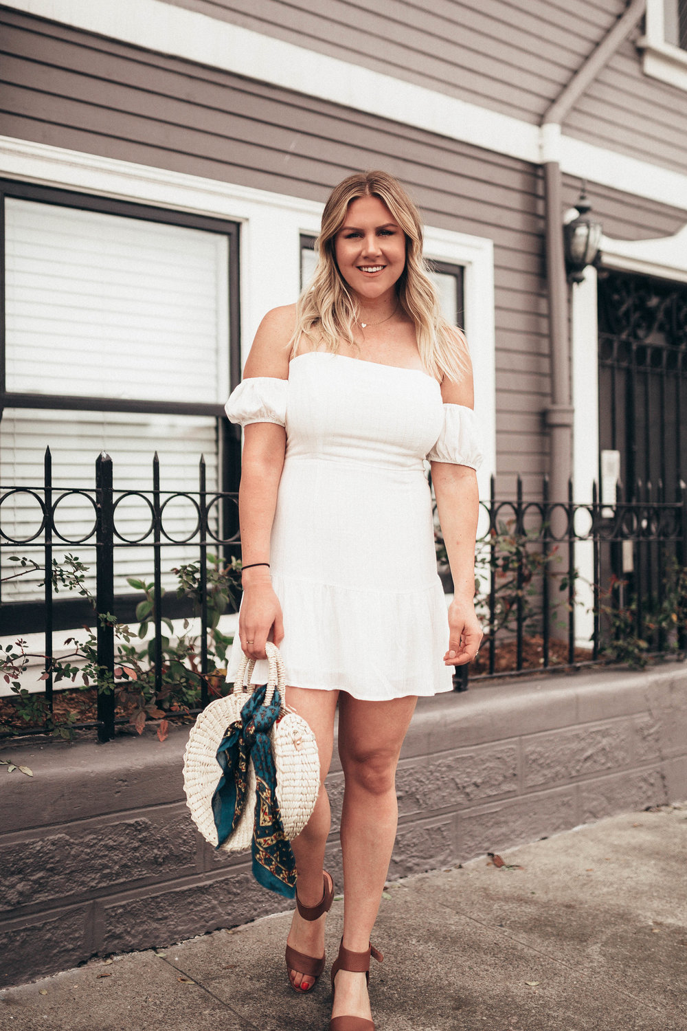 via Thea Tobi Off The Shoulder Easter Dress