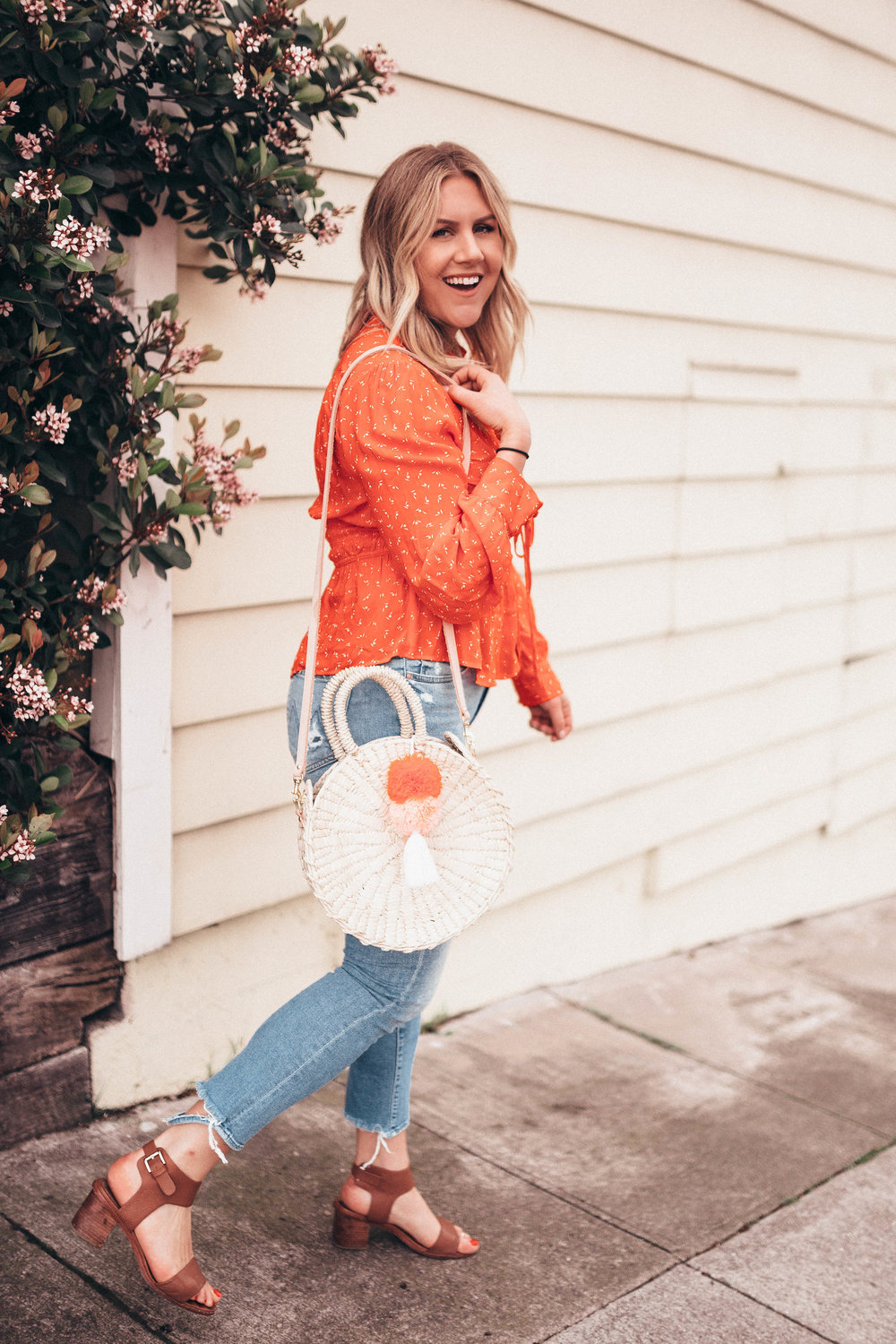 via Thea: Free People Top and Nomah Project bag