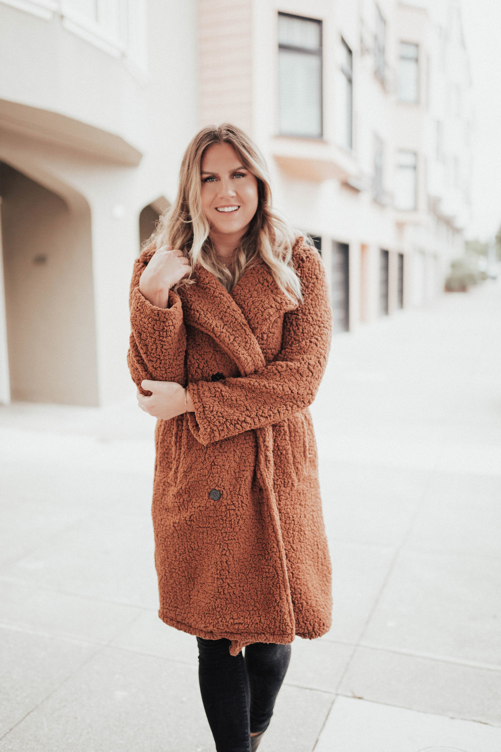 via Thea: Fall Teddy Coat