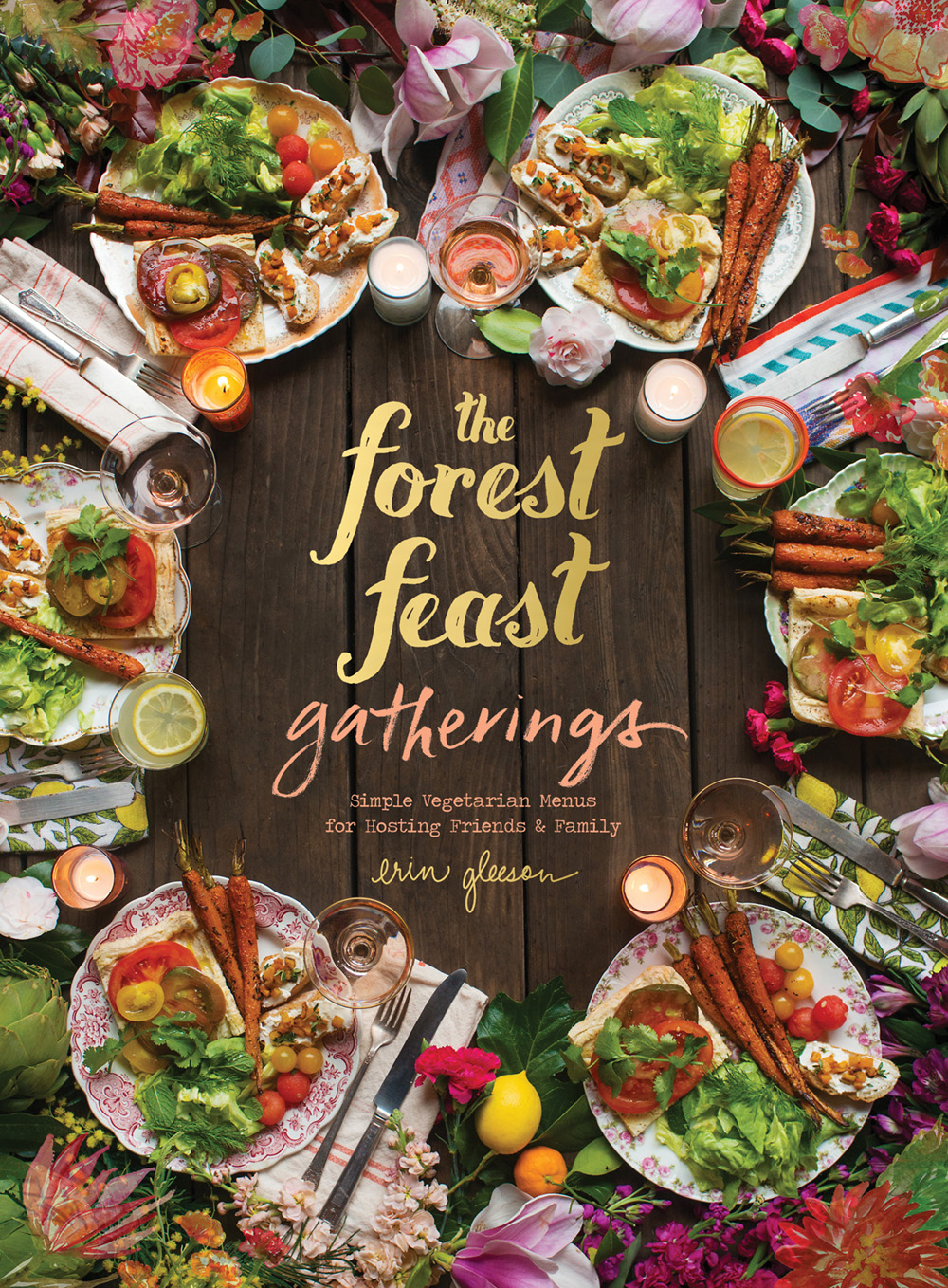 For the last year or so, I have been busy working on my biggest project to date– my third book, an entertaining cookbook called THE FOREST FEAST GATHERINGS. I have just finished it and am so excited to reveal the cover (here's a behind-the-scenes pic of the cover shoot!). It comes out September 27, 2016, but is already available for PREORDER!! It's all new material (with a few blog favorites) and features menus for small gatherings on any occasion – everything from a summer dinner party, to a cocktail party, to brunch. For more recent news in my newsletter, click here.  Happy weekend!